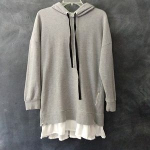 FOREVER 21 | Ruffle Trimmed Hoodie Tunic Size Sm